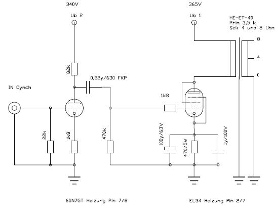 Line Out an welcher Stelle des Röhren-Amps? (Elektronik