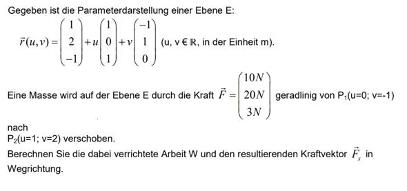Lineare Algebra Aufgabe Kraftvektor?