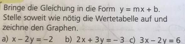 Lineare Funktionen berechnen?