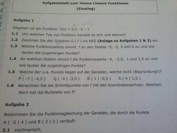 Aufgabe - (Mathematik, Abitur)