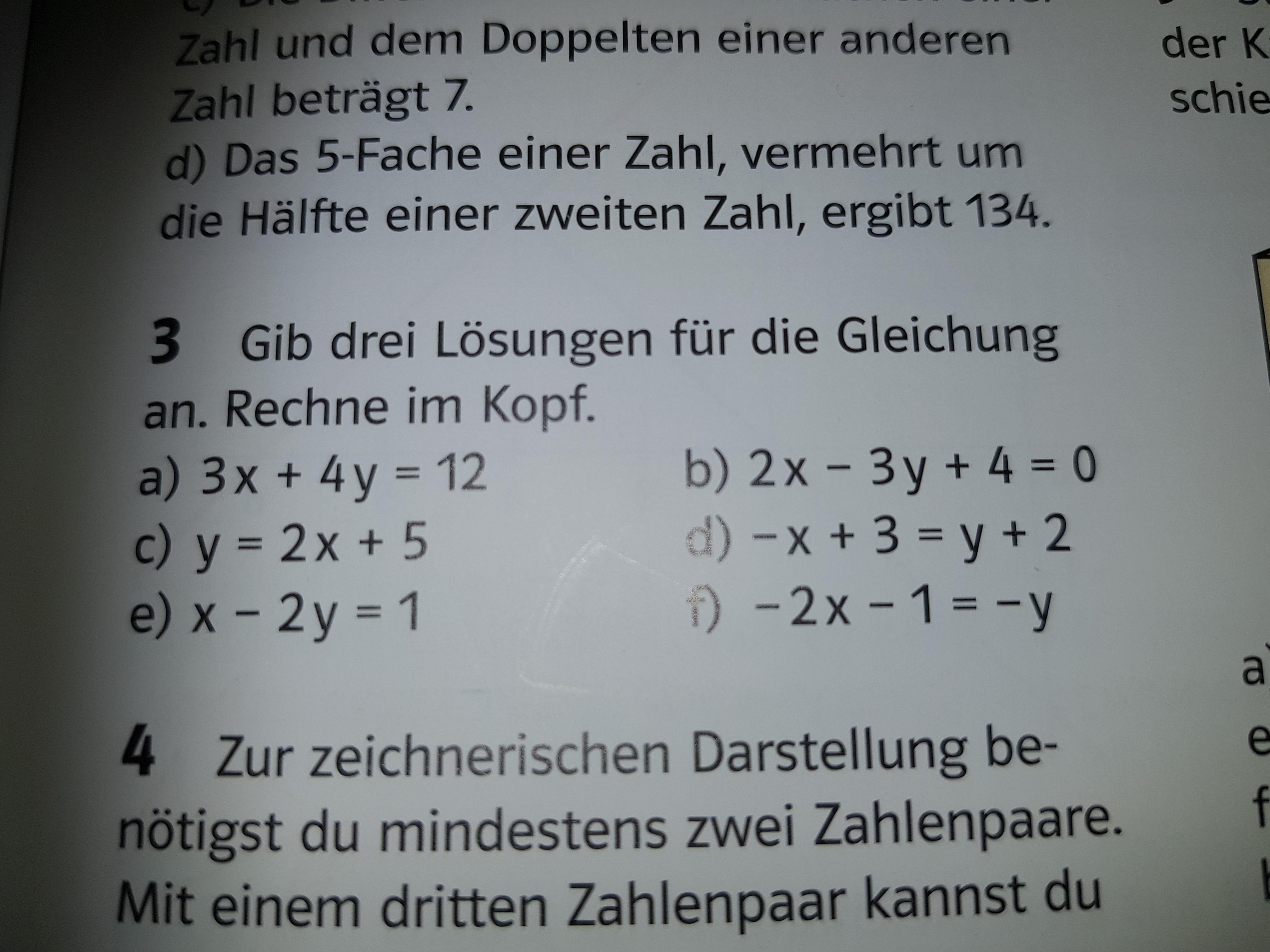 Lineare Gleichungen mit zwei Variablen wie soll ich vorgehen (9 ...