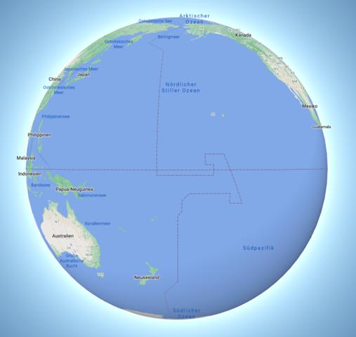 Linie auf Globus?