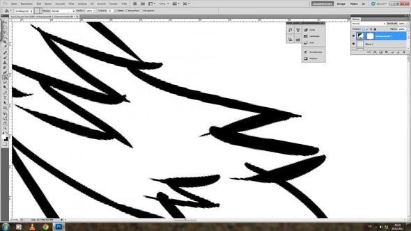 Linie Färben Photoshop? (Farbe, schwarz, blau)