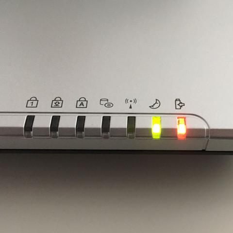 Die zwei LEDs blinken dann immer - (Computer, Software, Hardware)