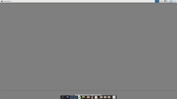 Linux-Manjaro-xfce: Wie bekomme ich diese graue Start-Seite weg?