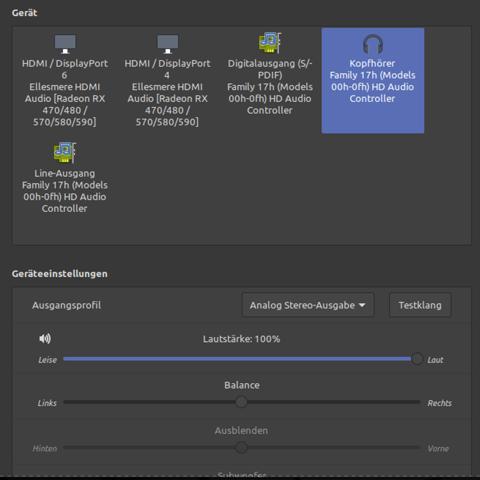Linux Mint - Hinterer Audioausgang funktioniert nicht. Was tun?