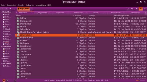 Linux Mint (20.2 Cinnamon): Wie kann ich im Browser mit Mausrad durch die Reiter scrollen?