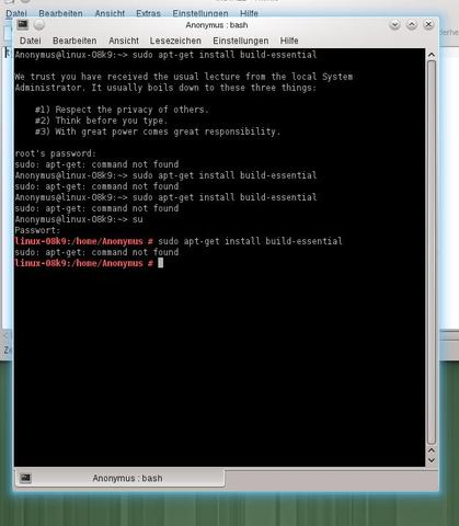 """Linux """"sudo apt-get install"""" Problem. - (Linux, openSUSE)"""