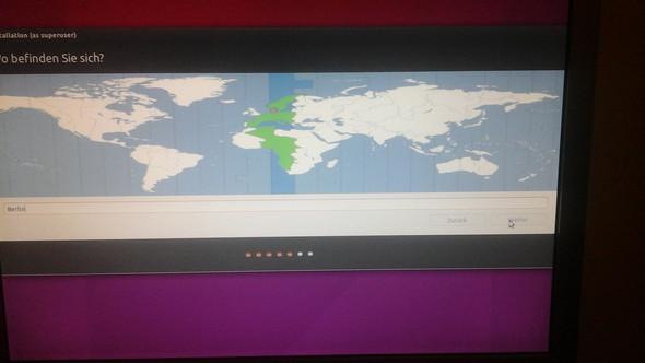 Hier kann ich nicht auf weiter klicken. - (Linux, Ubuntu)