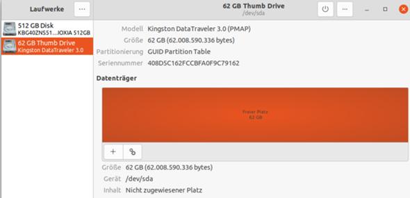 - (Computer, Linux, USB-Stick)