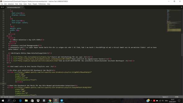Screenshot meines Codes - (Informatik, html, Liste)