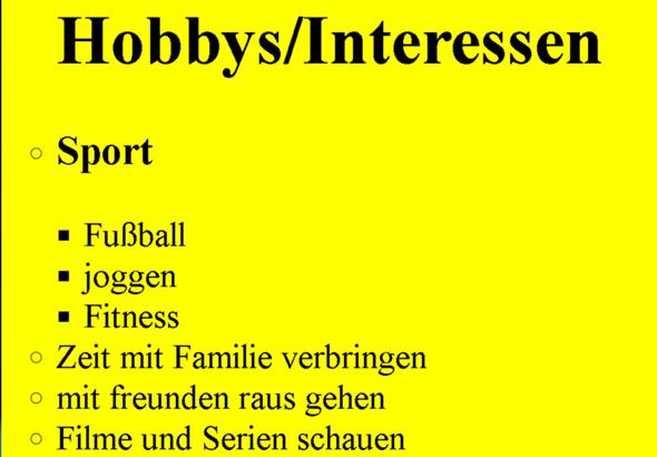 Liste in HTML mit CSS: Wie bekomme ich die Unterpunkte (Fußball, Joggen, Fitness) unter den Punkt Sport?