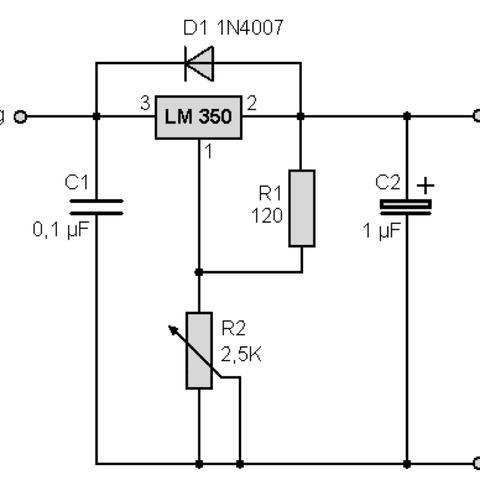 LM350 Problem (Elektronik, Netzteil, Schaltung)