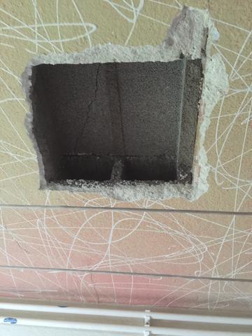 kann ich das loch von der betondecke von unten schliessen haus handwerk bau. Black Bedroom Furniture Sets. Home Design Ideas