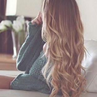 Haare locken nur unten