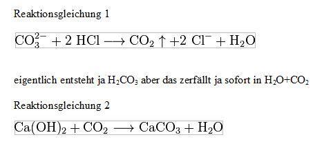 Löslichkeitsprodukt bei carbonat nachweis (Chemie, Ionen ...