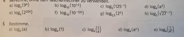 logarithmus bestimmen mathe?
