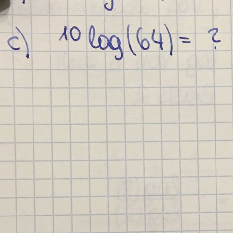 Also das soll der Logarithmus von 64 mit der Basis 10 sein! - (Schule, Mathematik, Physik)