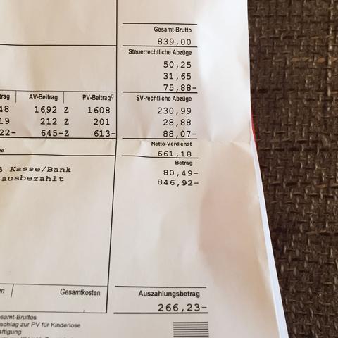 Lohnzettel  - (Abrechnung, nachberechnung)