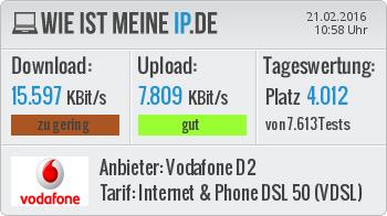 Mein Speed Test - (PC, Internet, WLAN)
