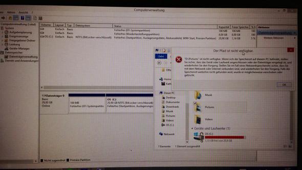 Hier meine momentane Situation - (Computer, Windows 8, Datenträger)