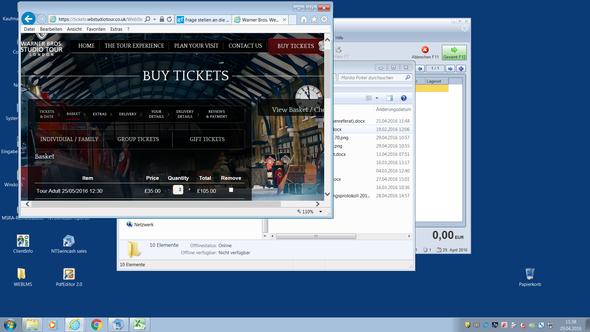 tour um 35€ - (Ticket, Fantasy, Harry Potter)