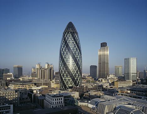 The Gherkin - (London, Maße, Wolkenkratzer)
