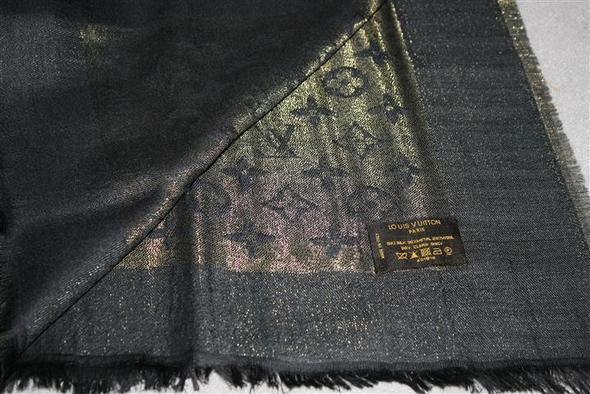 ... Der Schal schwarz gold - (Mode, Schal, louis vuitton) ...