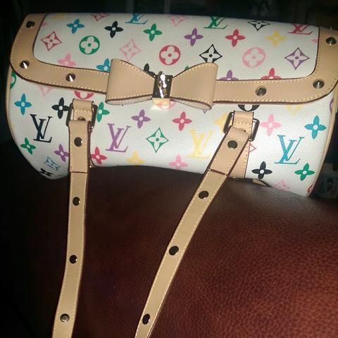 Louis Vuitton Tasche Weiß Bunt