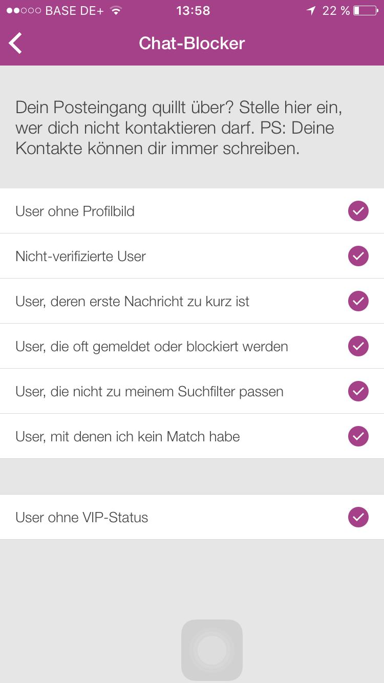 lovoo blockierte user aufheben