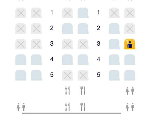 Lufthansa bester Business Sitzplatz im A340-300?