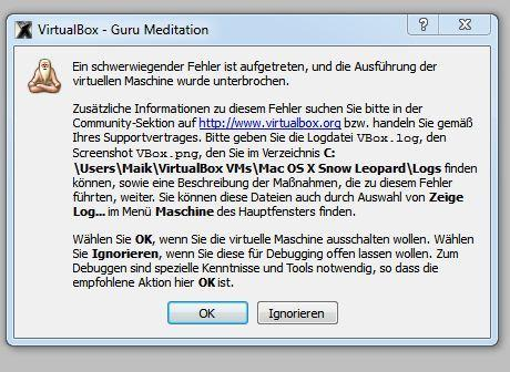 Meldung - (Apple, Windows, mac-os-x)