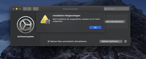 Mac Update funktioniert nicht?