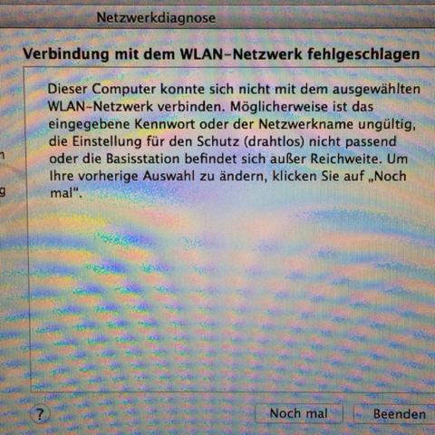 Fehlerbeschreibung - (Internet, Apple, WLAN)
