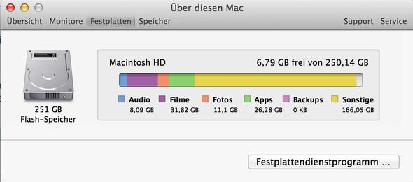 Speicherplatz.jpg - (Apple, Update, Backup)