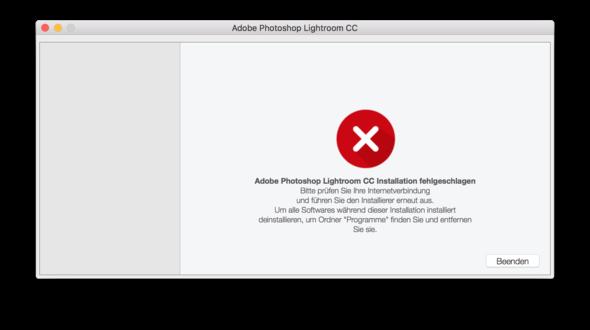 Fehlermeldung - (Programm, Fehlermeldung, installieren)