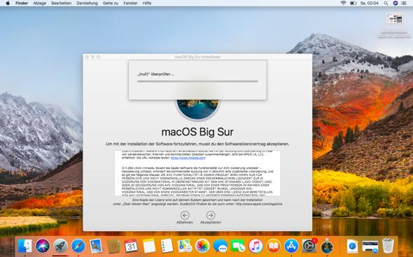 macOS Big Sur lässt sich nicht Installieren?