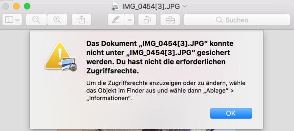 Fehlermeldung  - (Mac, Macbook, mac-os-x)