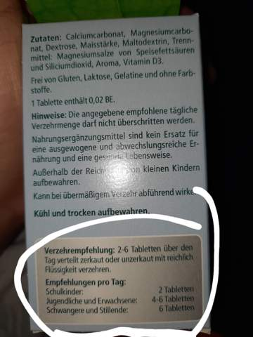 Magnesium d3 4-6 Stücke auf einmal nehmen?