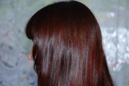 mahagoni braun oder kastanien braun haare haarfarbe t nung. Black Bedroom Furniture Sets. Home Design Ideas