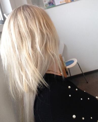 Man Sieht Den übergang Von Meinen Extensions Was Tun Haare Beauty