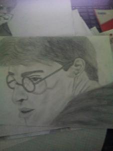 Harry Potter Bild (Im Unterricht aus langeweile gemacht) - (Beruf, Gehalt, zeichnen)