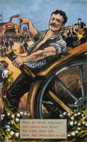 Postkarte - (Arbeit, deutsch, Politik)