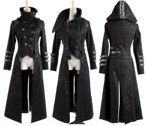 Bei diesem Bild sieht man beim Mantel unten eben diesen genannten Schlitz - (Mode, Kleidung, Suche)