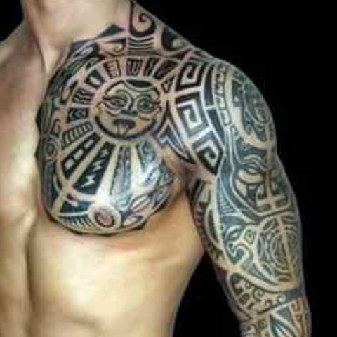 maorie tattoo k rper. Black Bedroom Furniture Sets. Home Design Ideas