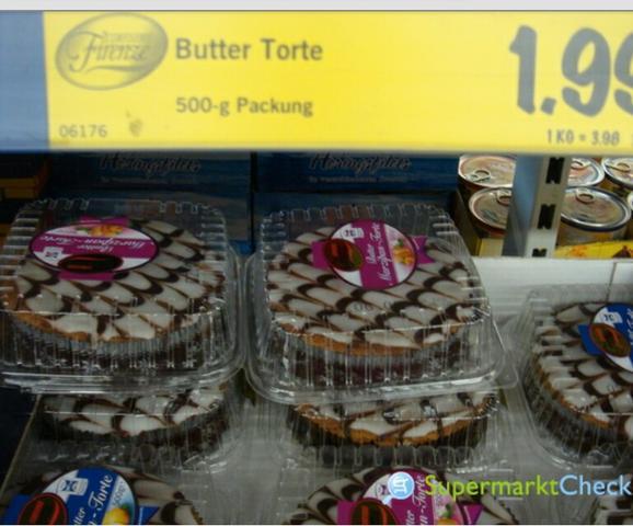 Marzipan Butter Torte Von Lidl Nach Backen Kuchen