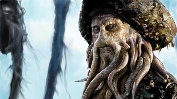 Davy Jones - (Halloween, Maske, Piraten)