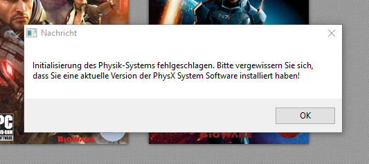 PhysX fehler - (Computer, PC-Spiele, Mass Effect 2)