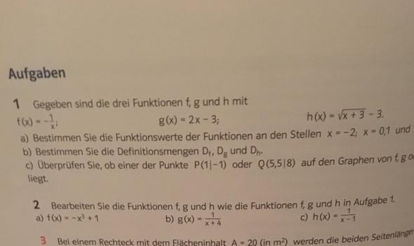 Aufgabe  - (Mathe, Funktion)