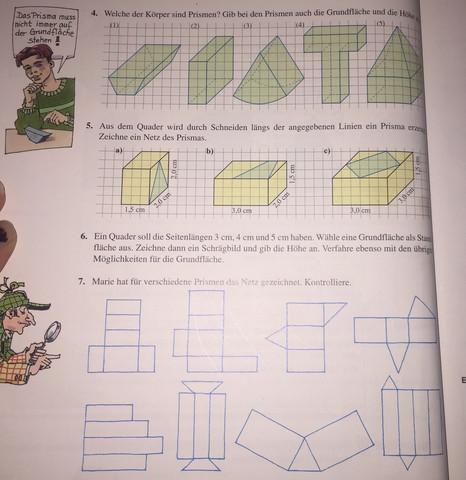 mathe 8 klasse prismen was ist ein prisma wie zeichne ich das netz schule geometrie. Black Bedroom Furniture Sets. Home Design Ideas